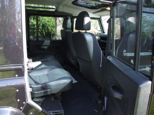Land Rover Defender Interior for hire