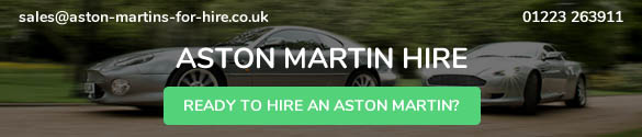 An advert for the Aston Martins fro hire website