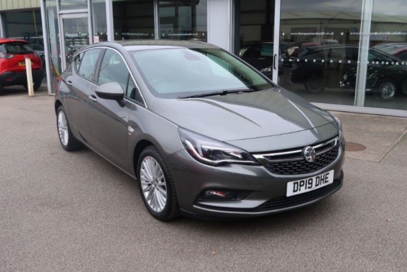 An image of a Vauxhall Astra Hatchback parked on the Wallis & Son forecourt.