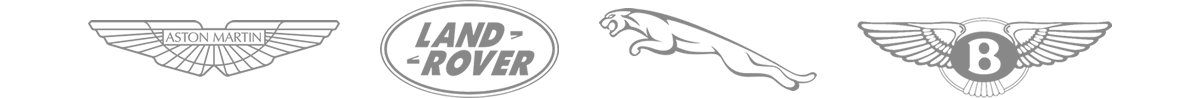 An image of the Aston Martin, Land Rover, Bentley & Jaguar Logos.