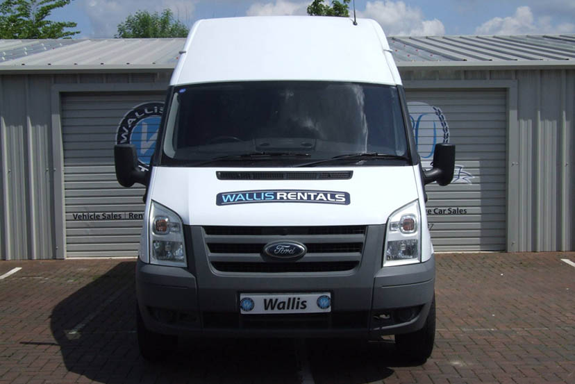 An image of a White MWB Van