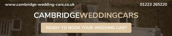 An advert for the Cambridge Wedding Cars website