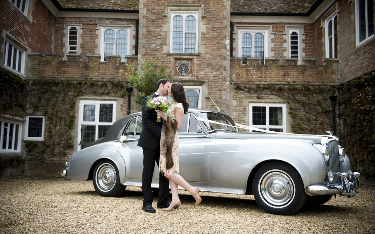 An image of our Bentley S1 at a Wedding.